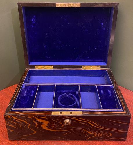 Good Quality Fully-fitted Coromandel-wood Jewellery Box (1 of 6)