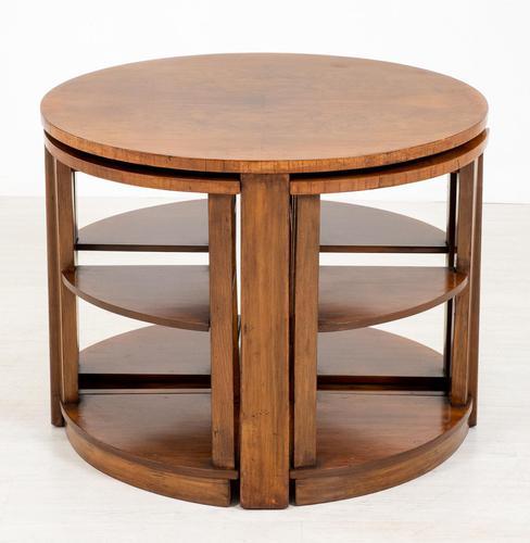 Walnut Art Deco Nest of tables (1 of 7)