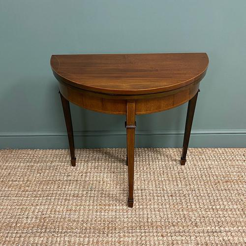 Elegant Small Edwardian Antique D End Games / Side Table (1 of 6)