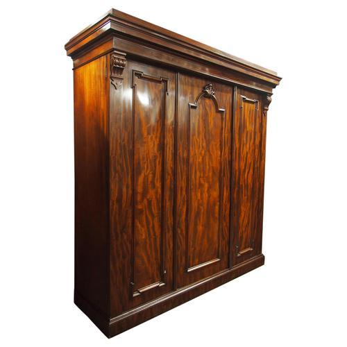 Victorian Mahogany 3 Door Wardrobe (1 of 8)