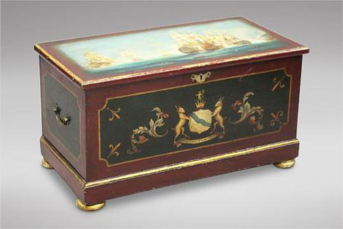 Hand Painted Victorian Pine Box (1 of 4)