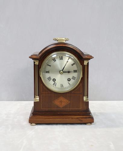 English Edwardian Mahogany Mantel Clock by Astral (1 of 8)