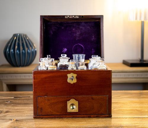 Georgian Mahogany Apothecary Box 1800 (1 of 14)