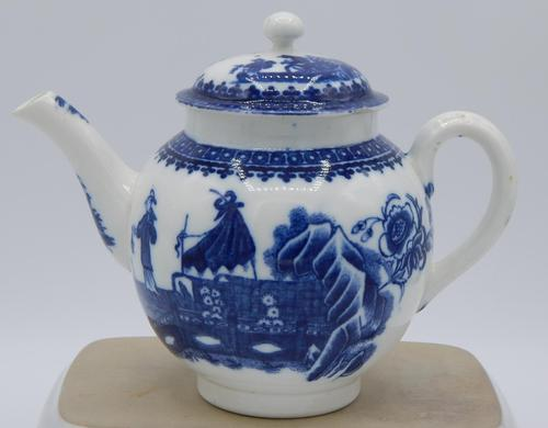 Caughley Fisherman & Cormorant Pattern Teapot (1 of 6)