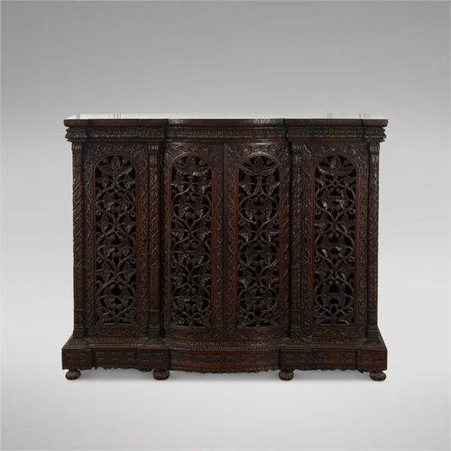 Highly Decorative Burmese 19th Century Three Door Cabinet (1 of 5)