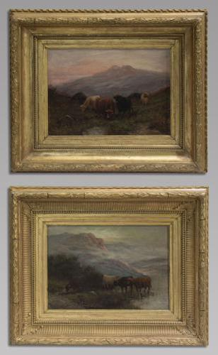 W Thomas - Pair Of Cattle Scenes - 19thc Oil On Canvas's (1 of 5)