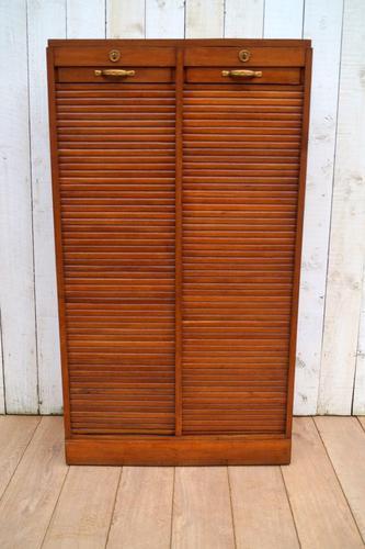 Oak Tambour Filing Cabinet (1 of 8)