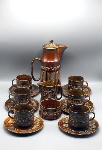 SylvaC Late 60's/early 70's 15 Piece 'totem' Pattern Coffee Set (1 of 10)