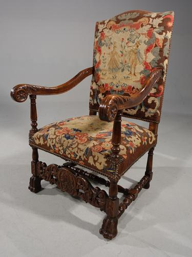 Well Carved Early 20th Century Oak Throne Type Chair (1 of 7)