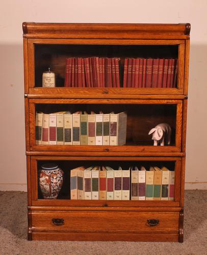 Globe Wernicke Oak Bookcase of Three Elements (1 of 12)