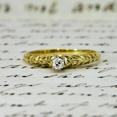 The Vintage Ornate High Rise Diamond Ring (1 of 5)