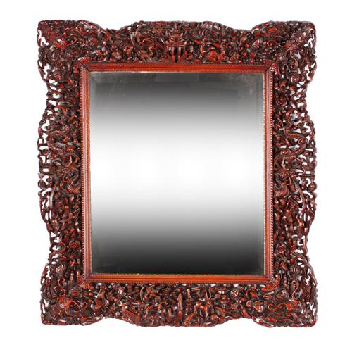Chinese Red Cedar Framed Mirror (1 of 8)