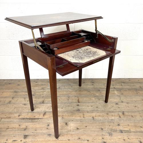 Edwardian Mahogany Metamorphic Writing Desk by Edwards & Sons (1 of 10)