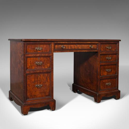 Antique Morning Room Desk, English, Walnut, Writing Table, Victorian c.1880 (1 of 12)