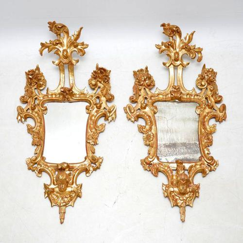 Pair of Antique French Giltwood Mirrors (1 of 14)
