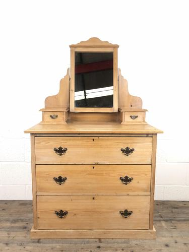 Antique Pine Dressing Table Chest with Drawers (1 of 11)