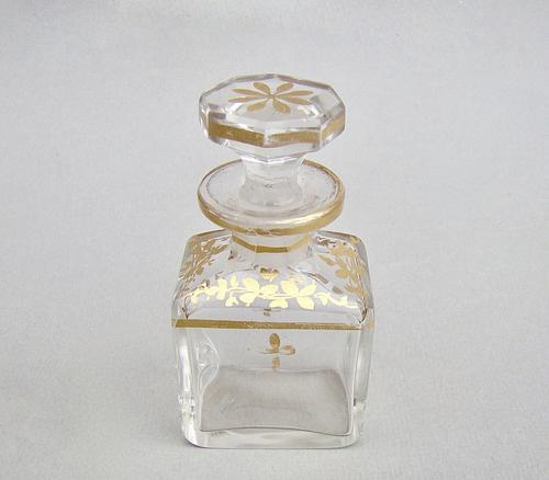 19th Century French Gilt Glass Scent Bottle c.1890 (1 of 6)