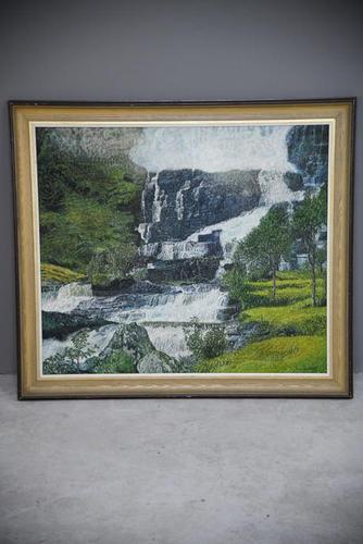 Large Waterfall Oil Painting (1 of 20)