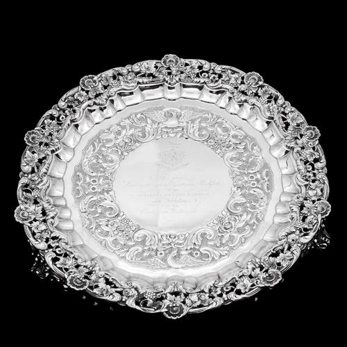 Magnificent Georgian Sterling Silver Tray / Salver with Military Lieutenant Interest - James Fray 1833 (1 of 23)