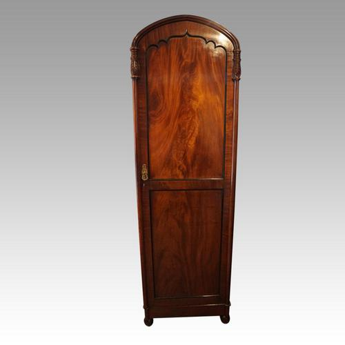 William IV Mahogany Single Wardrobe (1 of 5)