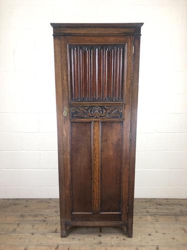 Early 20th Century Antique Oak Linenfold Hall Cupboard (1 of 13)
