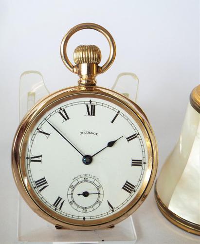 Vintage 1920s Duracy Stem Winding Pocket Watch (1 of 5)