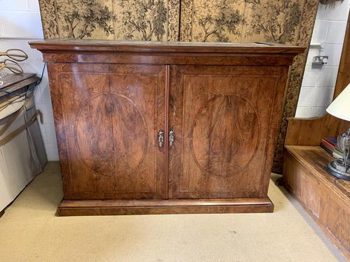 Large Burr Walnut Two Door Inlaid Cupboard (1 of 8)