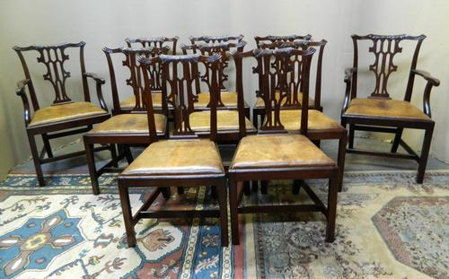 Set of 10 Mahogany Dining Chairs (1 of 7)