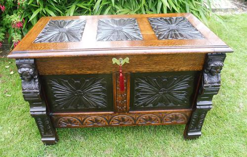 Country Oak Cottage Coffer 1860 (1 of 12)