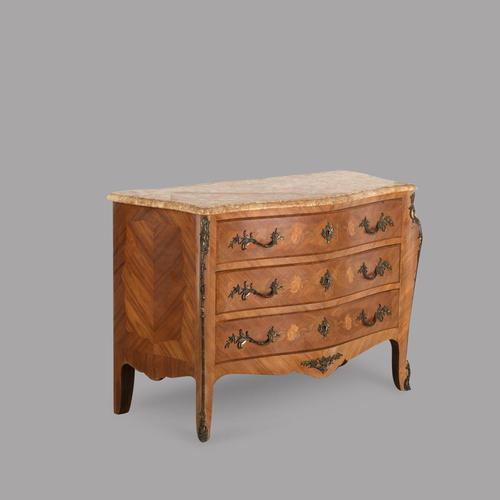 19th Century French Fruitwood Parquetry Inlay Commode (1 of 4)
