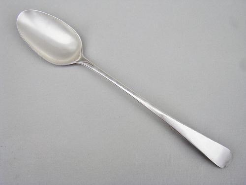 York silver Old English Pattern Basting Spoon by Hampston & Prince, Circa 1780 (1 of 4)