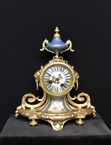 Clock Mantel Ormolu (1 of 9)