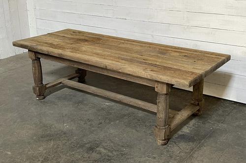 Rare Large & Deep Oak Farmhouse Dining Table (1 of 31)