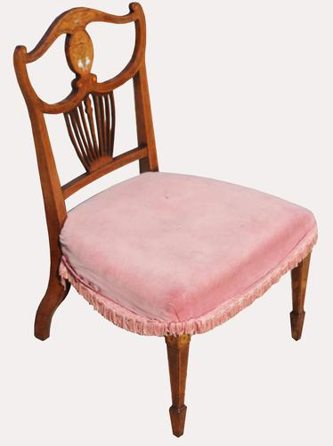 Victorian Inlaid Nursing Chair in Rosewood (1 of 6)