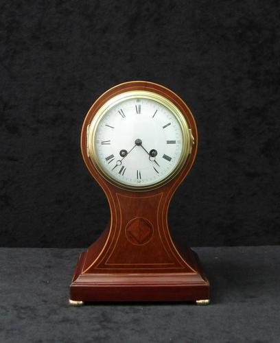 French Belle Epoque Mahogany Mantel Clock by Japy Freres (1 of 6)