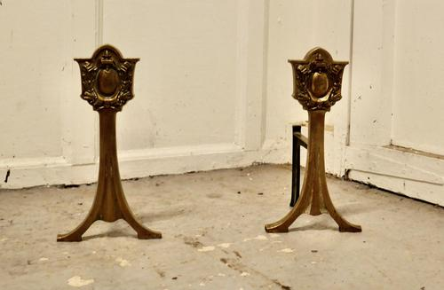 Elegant Pair of 19th Century Andirons or Fire Dogs (1 of 5)