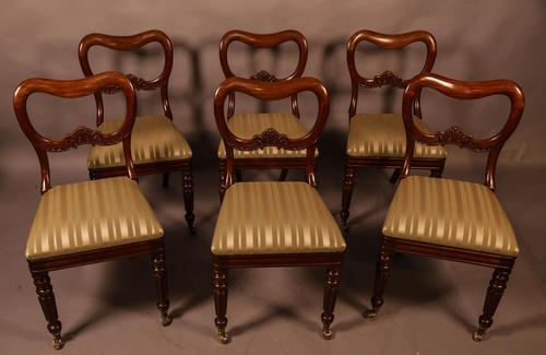 Set of 6 Early Victorian Mahogany Dining Chairs Possibly Gillows (1 of 12)