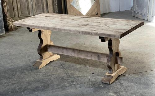 French Bleached Refectory Farmhouse Dining Table (1 of 21)