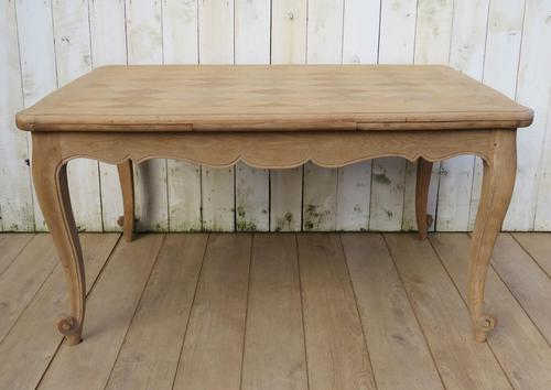 Bleached Oak Draw Leaf Dining Table (1 of 6)