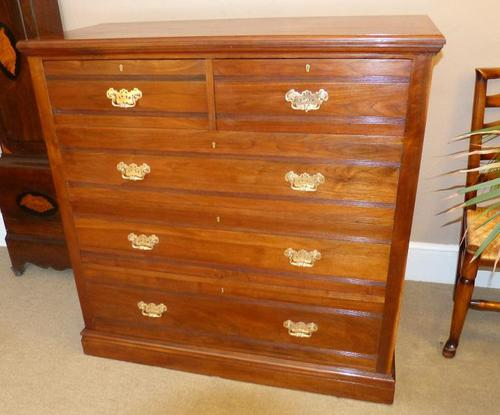 Large Late Victorian Walnut Chest of Drawers (1 of 5)