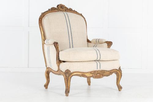 Large Scale 19th Century French Armchair (1 of 9)