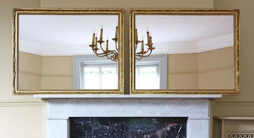 Pair of Gilt 19th Century Overmantle or Wall Mirrors (1 of 13)
