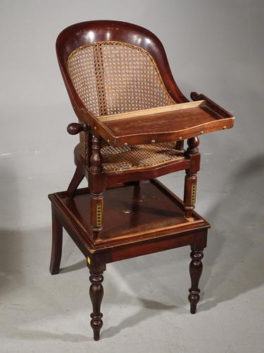 Early 19th Century Child's Metamorphic Hoop Backed Canework Chair (1 of 7)