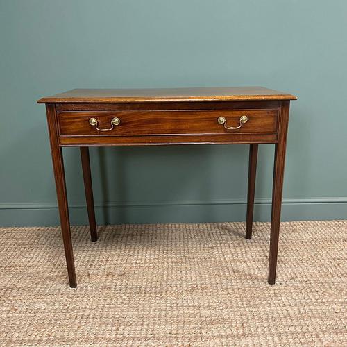 Fine Georgian Mahogany Antique Side Table (1 of 5)