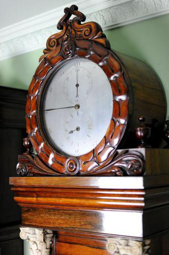 Palatial Regulator Clock - Exhibition quality with carved marble pillars (1 of 12)