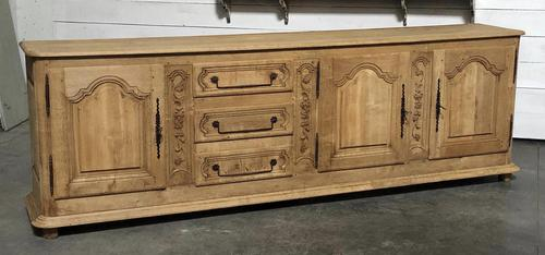 Superb Long French Oak Dresser Base (1 of 15)