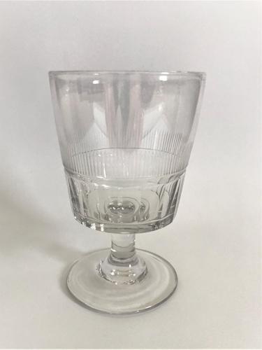 Stylish Regency Cut Glass Bucket Rummer (1 of 5)