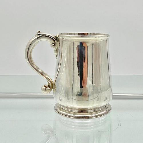 Antique George II Sterling Silver Pint Mug London 1728 Edward Vincent (1 of 7)