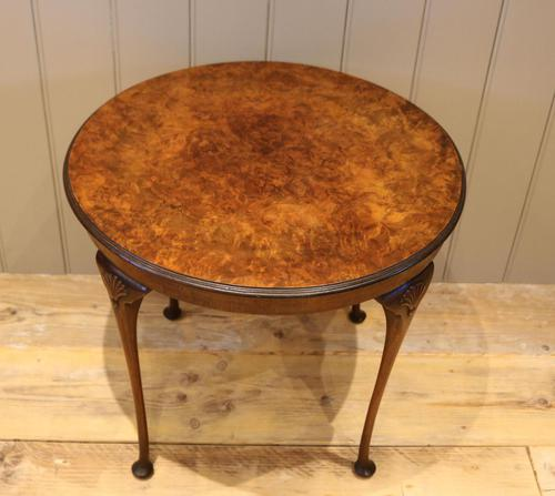 Low Circular Walnut Table (1 of 9)