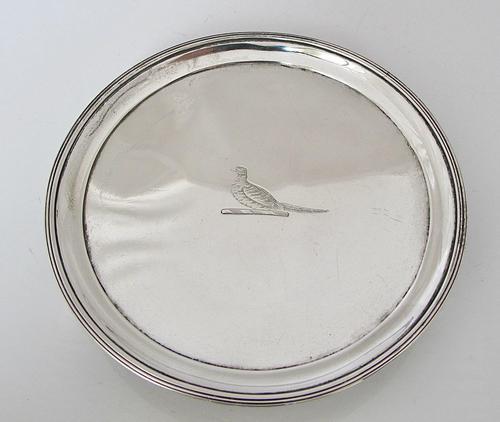 Elegant Georgian silver card tray Henry Chawner London 1791 (1 of 8)